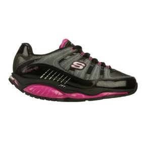 Skechers shape ups size 6 pink pink and black